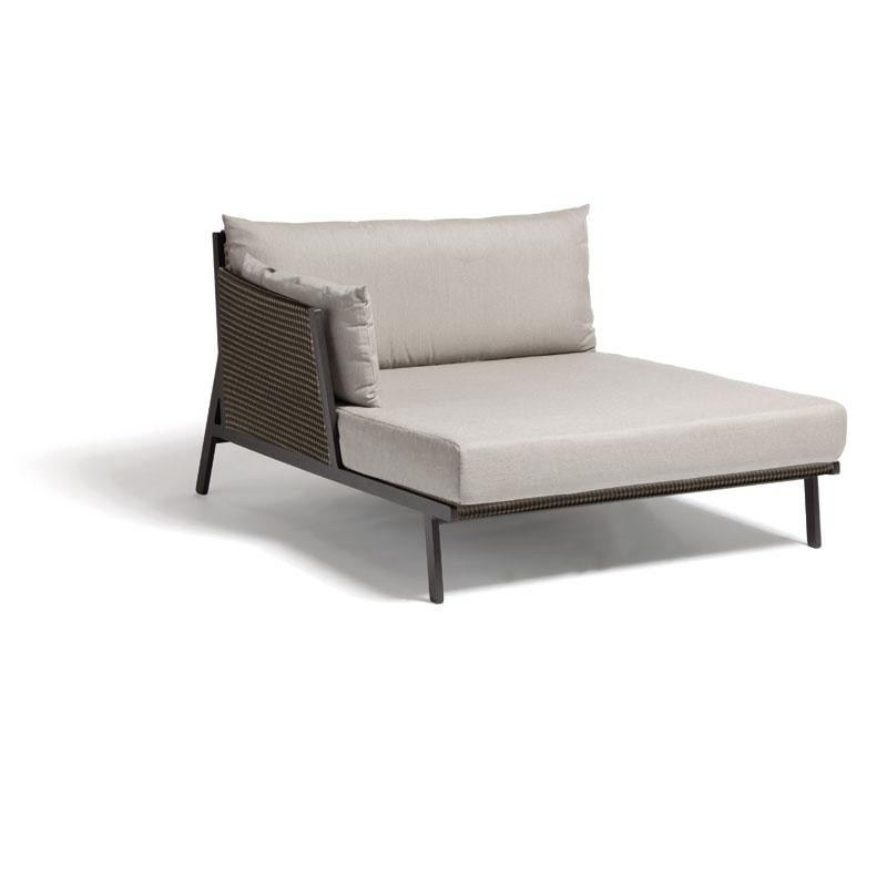 Chaise Lounge Kettal: Vieques Modern Outdoor Sectional Right Chaise Module