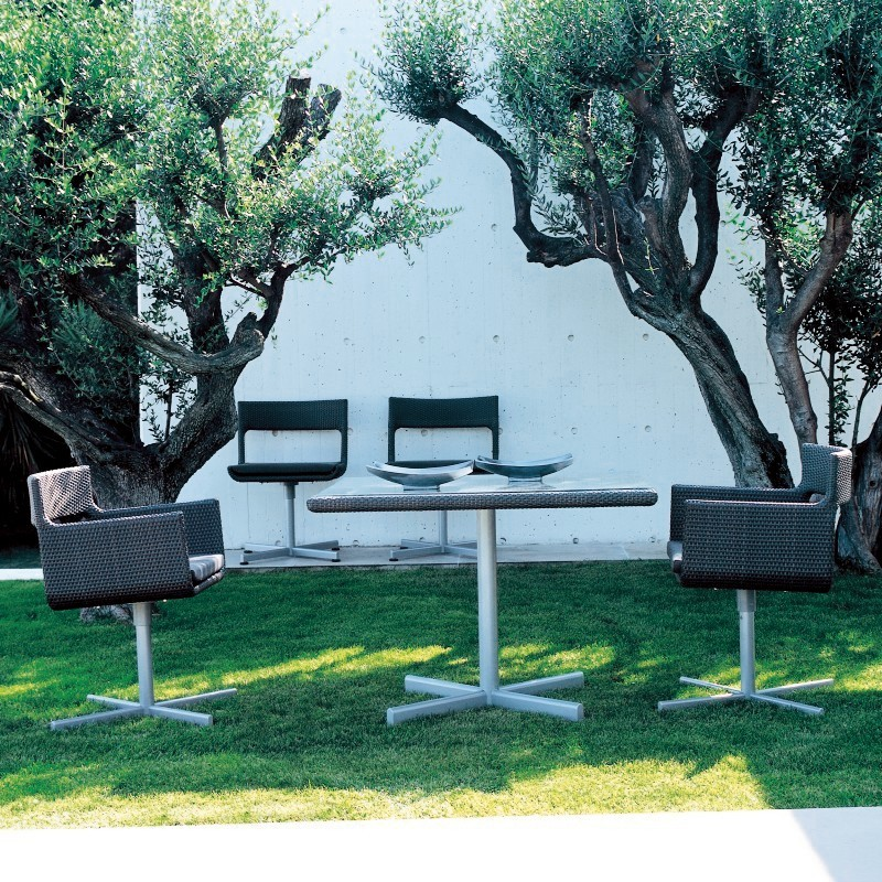 XXL Wicker Modern Outdoor Dining Set 5-piece : Patio Sets