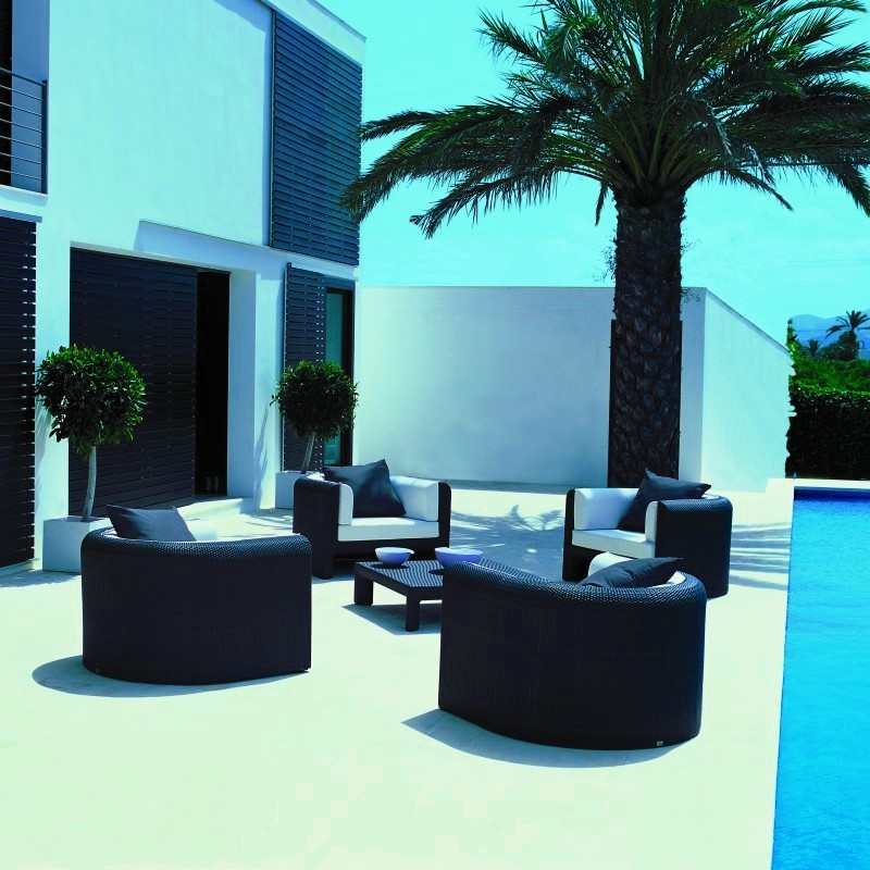 Xxl Outdoor Club Deep Seating Set 5-piece : Pool Furniture Sets