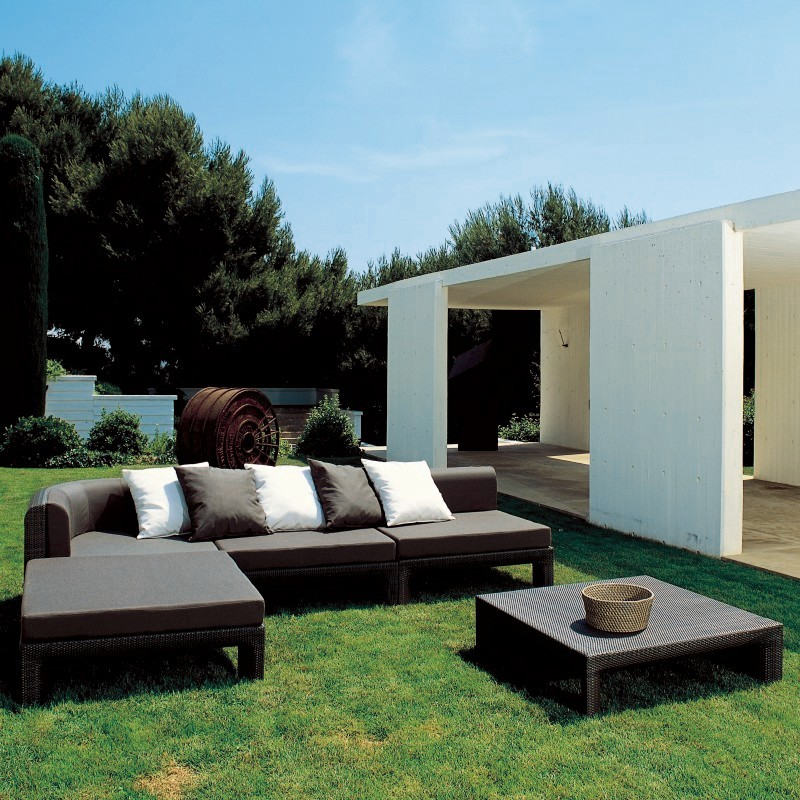 Xxl Sectional Outdoor Deep Seating Set 5-piece : Sunroom Furniture