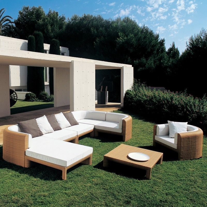 Xxl Sectional Outdoor Deep Seating Set 8-piece : Sunroom Furniture