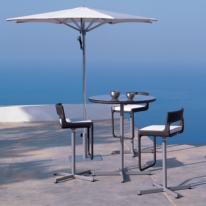 Xxl Swivel Outdoor Bar High Seating Set 3-piece : Pool Furniture Sets