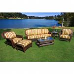 Sea Pines 6 Piece Outdoor Deep Seating Set with Sofa TO-LEX-651