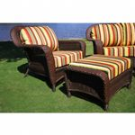 Sea Pines Outdoor Club Chair and Ottoman