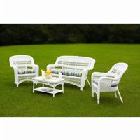 Portside Coastal White 4-Piece Garden Seating Set TO-PS4S-WHITE