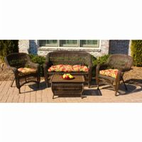 Portside Mocha 4-Piece Garden Seating Set TO-PS4S-MOCHA