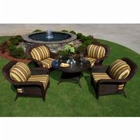 Sea Pines 5 Piece Outdoor Conversation Set TO-LEX-5LDS1