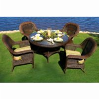 Sea Pines 5 Piece Outdoor Dining Seating Set TO-LEX-5DS1