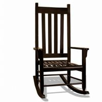 Traditional Wood Rocking Chair Black TO-TRC-B