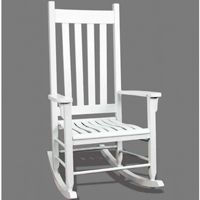 Traditional Wood Rocking Chair White TO-TRC-W