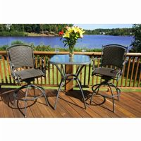 Tuscan 3 Piece Patio Bar Set TO-TL-BS3