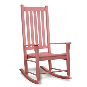 Traditional Wood Rocking Chair Pink TO-TRC-PNK
