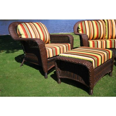 outdoor chair with ottoman. Sea Pines Outdoor Club Chair And Ottoman With U