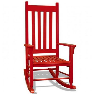 Traditional Wood Rocking Chair Red TO TRC R CozyDays
