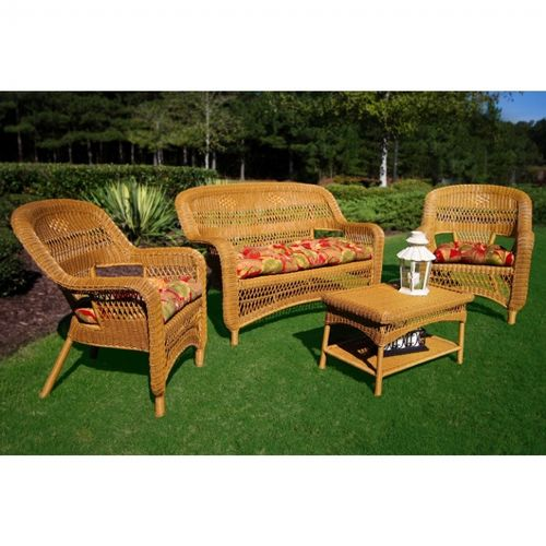 Portside Amber 4-Piece Garden Seating Set TO-PS4S-AMBER-EBP