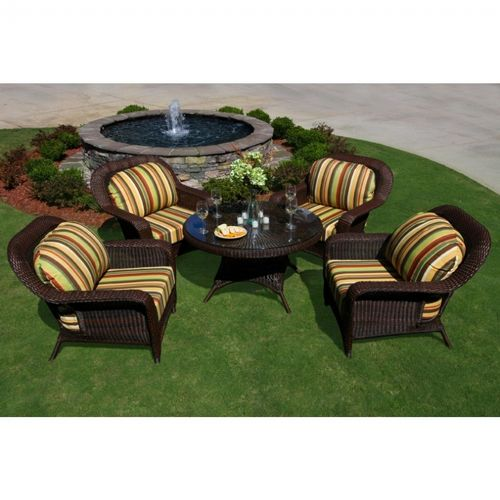 Sea Pines 5 Piece Outdoor Conversation Set To Lex 5lds1