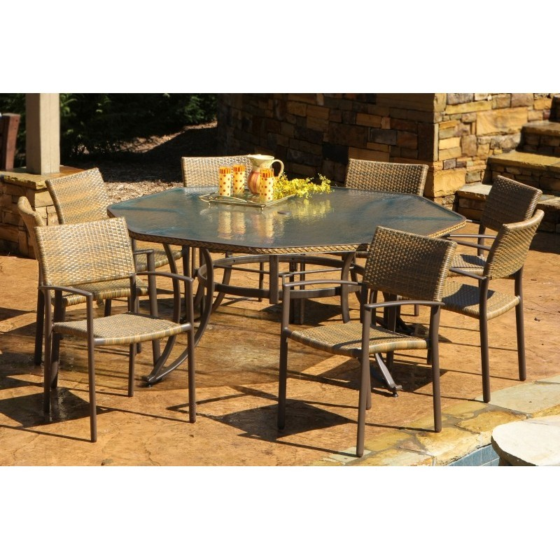 Maracay Resin Wicker 9 Piece Outdoor Dining Set