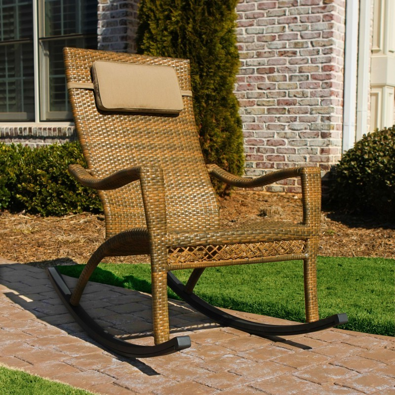 Heavy Duty Folding Outdoor Rocking Chair: Tortuga Maracay Outdoor Rocker Chair