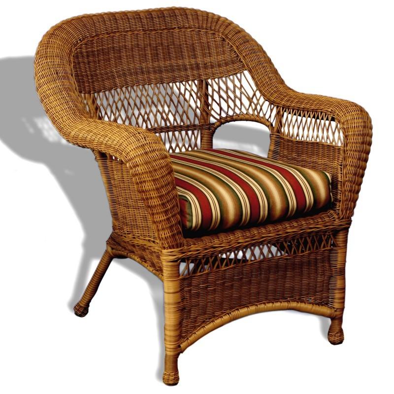 Sanibel Resin Wicker Traditional Club Chair TO SANC C1