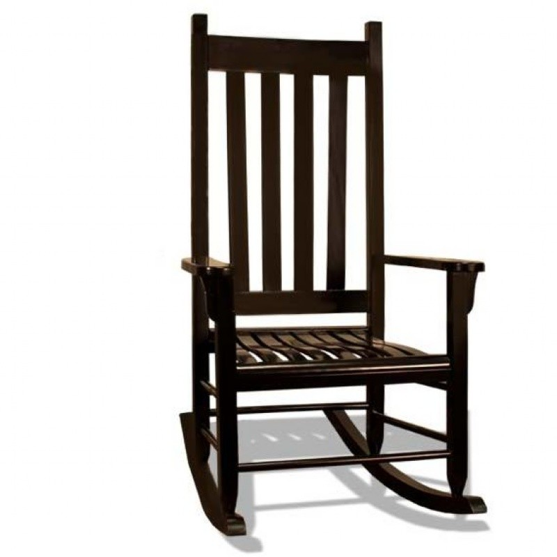Traditional Wood Rocking Chair Black