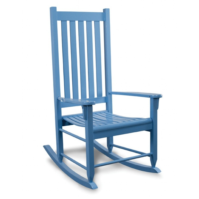 Traditional Wood Rocking Chair Blue