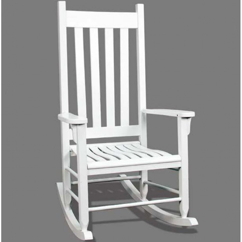 Traditional Wood Rocking Chair White
