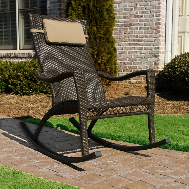 Tuscan Resin Wicker Outdoor Rocker Chair
