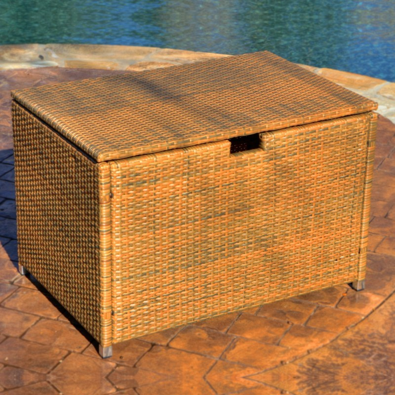 Log Cabin Sheds: Tortuga Outdoor Wicker Deck Box