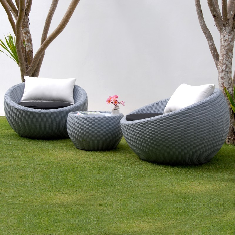 Lebello Circle Outdoor Club Seating Set 3 piece
