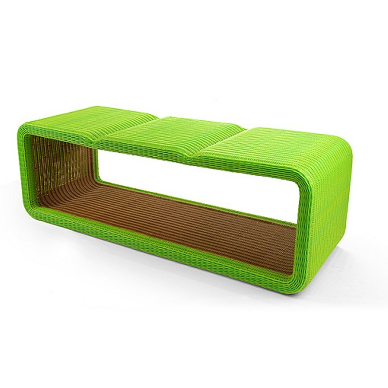 Hollow Modern Triple Indoor/Outdoor Bench : Modern Benches