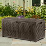 Outdoor Resin Wicker Storage Box 73 Gallons