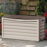 Outdoor Storage Box 63 Gallons Taupe