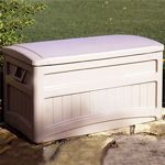 Outdoor Storage Deck Box 73 Gallons w/ wheels