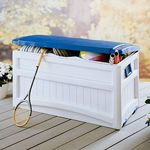 Pool Storage Box 73 Gallons w/Blue Lid SUDB8000BW
