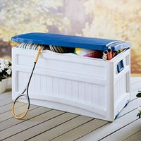 Pool Storage Box 73 Gallons w/Blue Lid SUDB8000BW