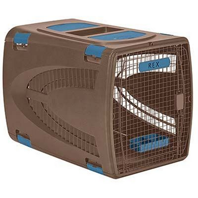 Pet Carrier 36 inch Brown Blue SUPCS3624