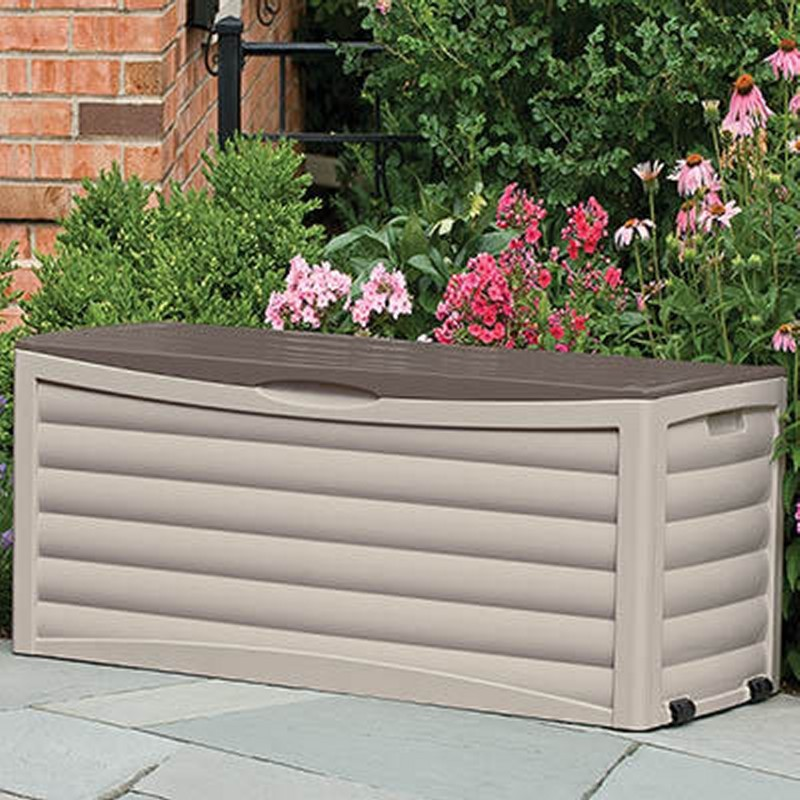 Outdoor Storage Trunk: Extra Large Outdoor Storage Box 103 Gallons