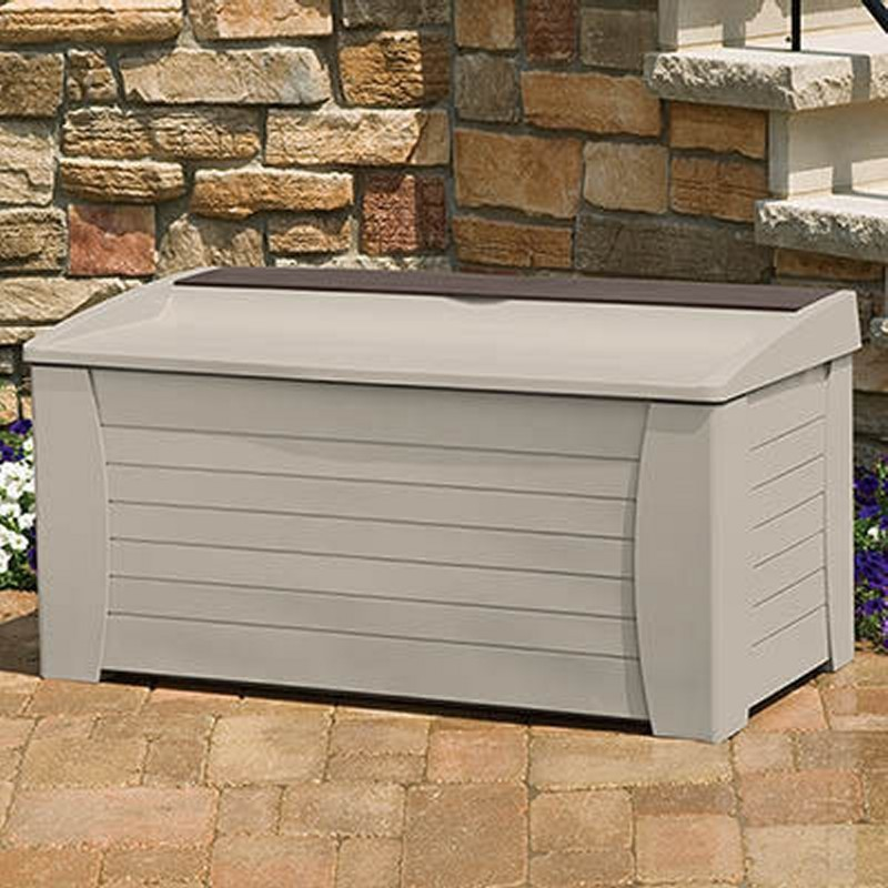 Log Cabin Sheds: Extra Large Outdoor Deck Box 127 Gallons