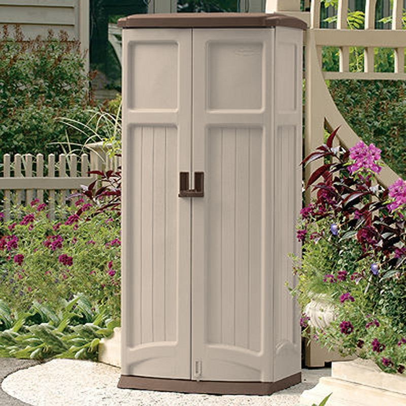 Garden Shed Cabinet Vertical 20 Cubic Feet SUGS1250B | DeckBoxesMart