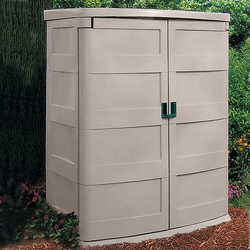 Patio Storage Units: Garden Shed Vertical 60 Cubic Feet PVC