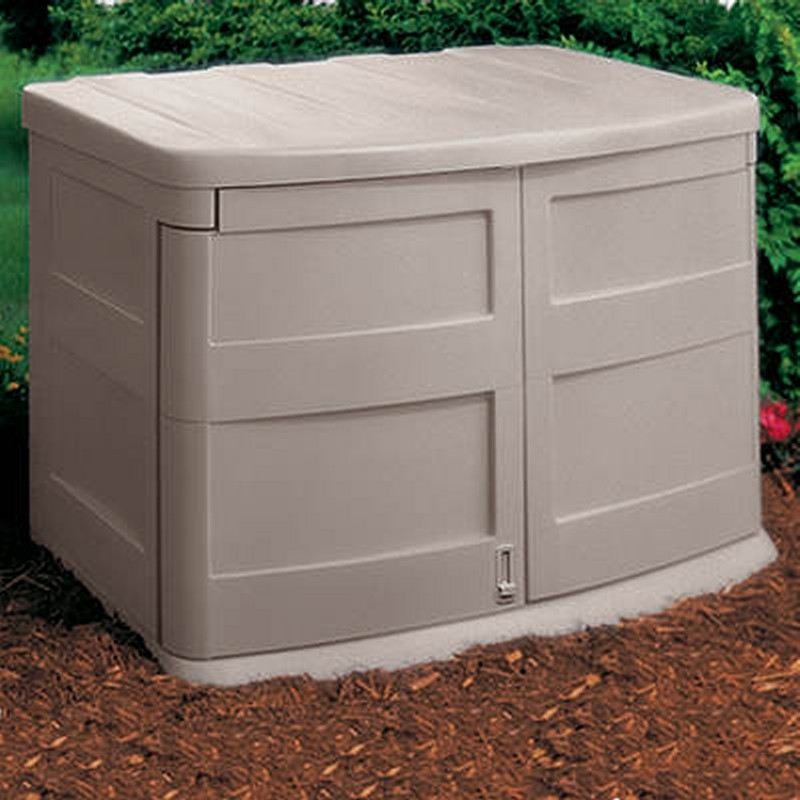 Plastic Underground Storage Containers: Garden Storage Shed 30 Cubic Feet Horizontal
