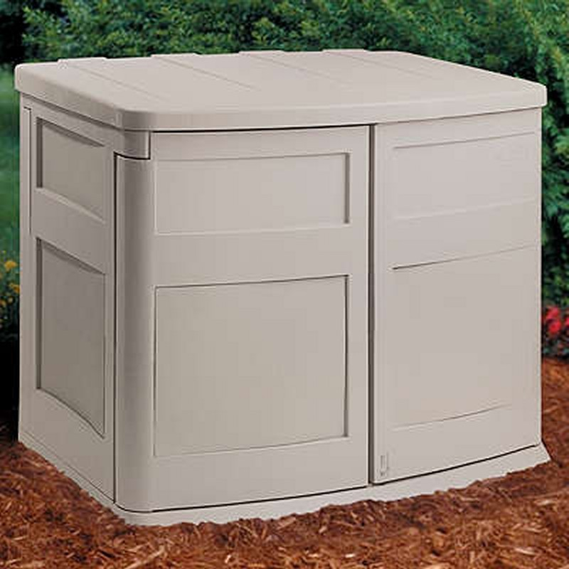 Poll Sheds: Outdoor Shed 38 Cubic Feet PVC