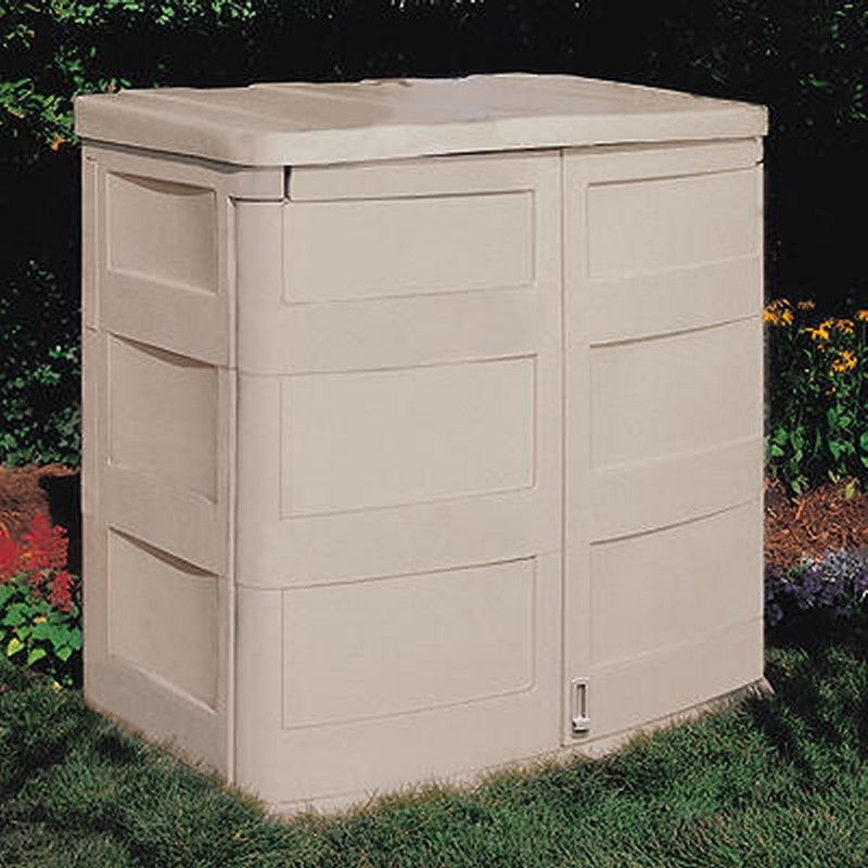 Poll Sheds: Outdoor Shed 45 Cubic Feet PVC