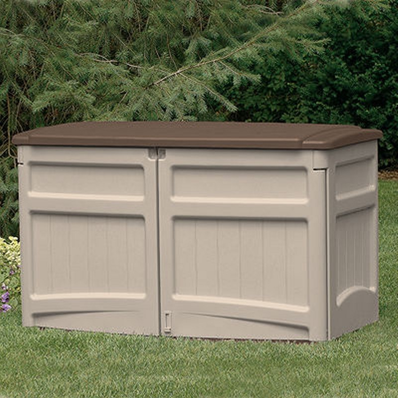 Poll Sheds: Outdoor Storage Shed Horizontal PVC
