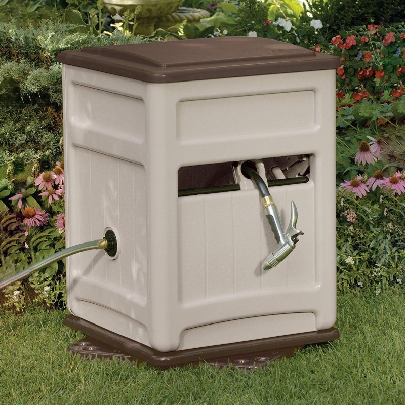 Fully Assembled Sheds: Garden Hose Reel Guide and Bin