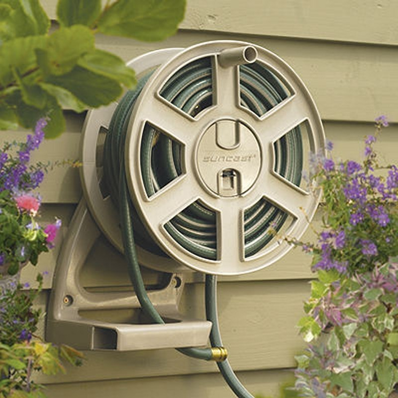 Fully Assembled Sheds: Sidetrack Wall Mounted Garden Hose Reel