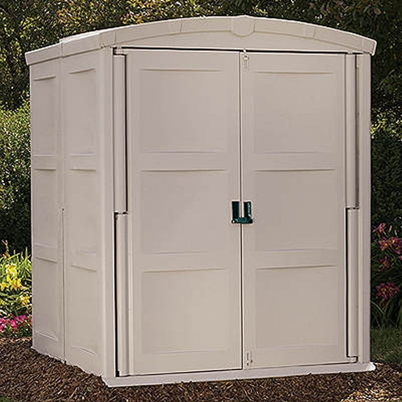 Poll Sheds: Large Outdoor Shed 138 Cubic Feet PVC