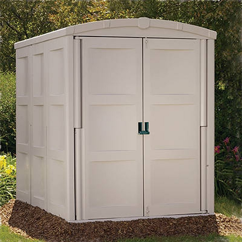 Poll Sheds: Large Outdoor Shed 208 Cubic Feet PVC