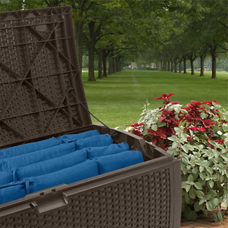 Deal of the Day: Outdoor Resin Wicker Storage Box 73 Gallons photo #2