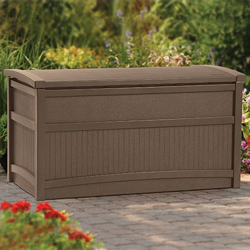 Outdoor Storage Trunk: Outdoor Storage Box 50 Gallons